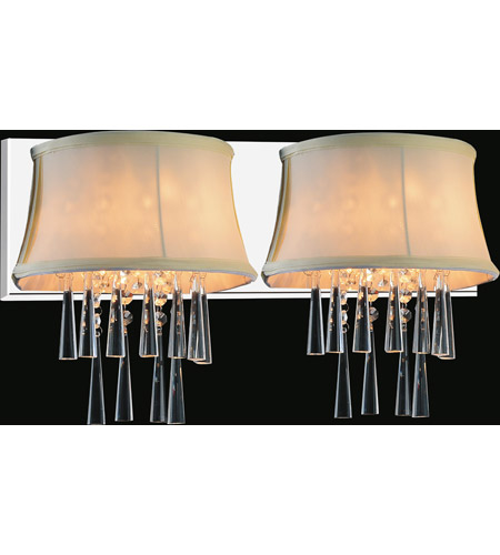 CWI Lighting Chrome Audrey Wall Sconces