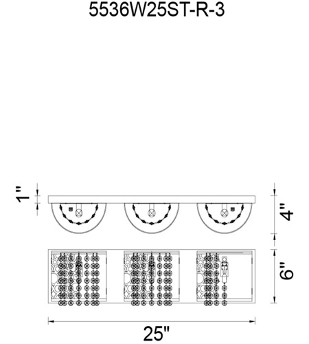 CWI Lighting 5536W25ST-R-3 Bubbles 3 Light 4 inch Chrome Vanity Light Wall Light photo thumbnail
