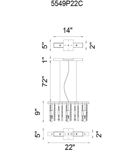 CWI Lighting Chrome Metal Janine Chandeliers
