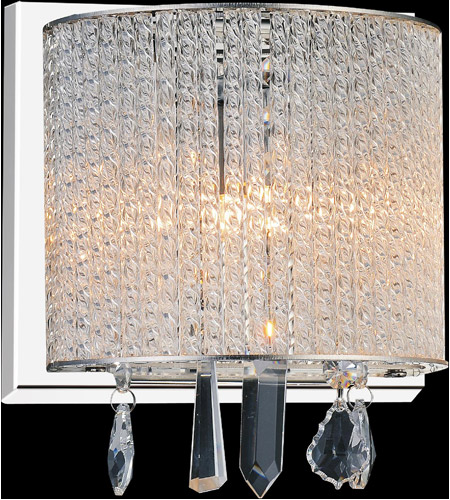 CWI Lighting 5562W8C-1-CLEAR Benson 1 Light 8 inch Chrome Wall Sconce Wall Light photo thumbnail