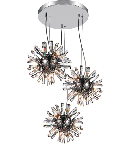 Chrome Crystals Flair Chandeliers