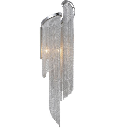 CWI Lighting 5650W9C-A Daisy 2 Light Chrome Wall Sconce Wall Light photo thumbnail