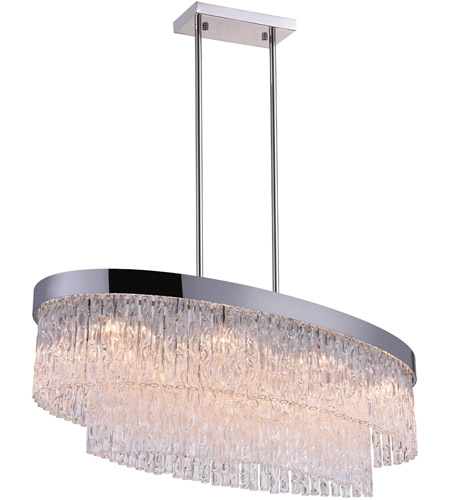 CWI Lighting Stainless Steel Carlotta Chandeliers