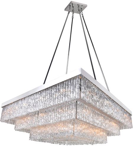 Stainless Steel Carlotta Chandeliers