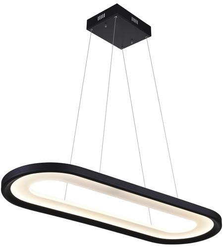 Cwi Lighting 7111p50 101 Capel Led 50 Inch Black Island Chandelier Ceiling Light