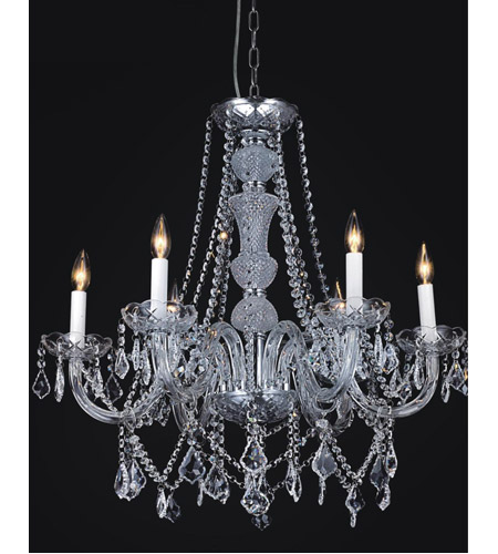 CWI Lighting Chrome Crystals Princeton Chandeliers