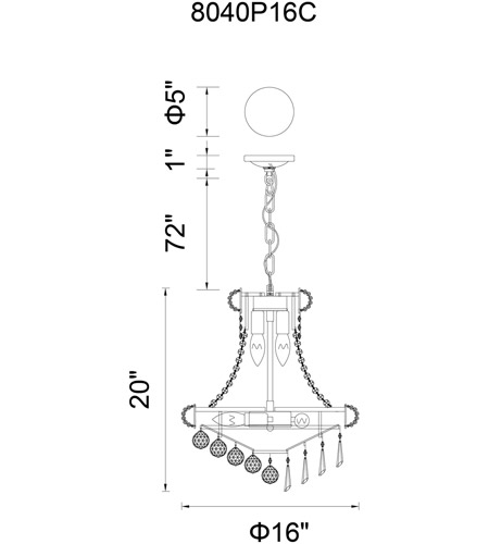 CWI Lighting Crystals Kingdom Chandeliers