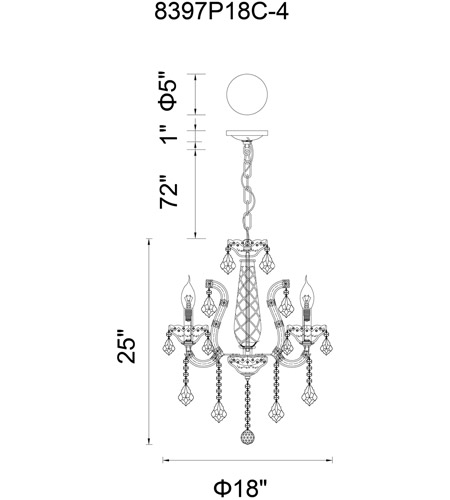 Chrome Steel Maria Theresa Chandeliers