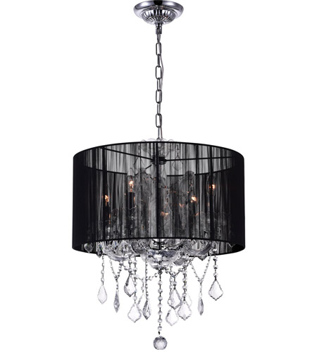 CWI Lighting Chrome Fabric Chandeliers