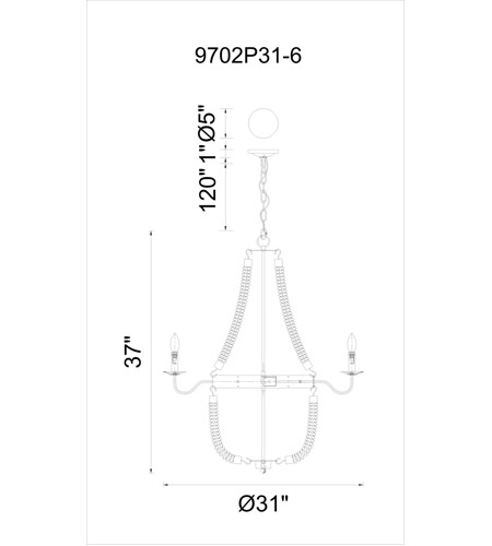 CWI Lighting Rust Ropes Chandeliers