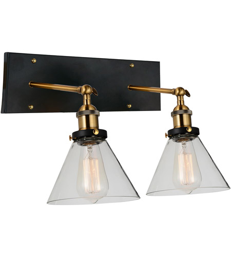 Black and Gold Brass Wall Sconces