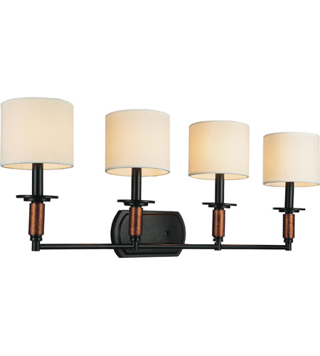Sia 4 Light 33 Inch Black Wall Sconce