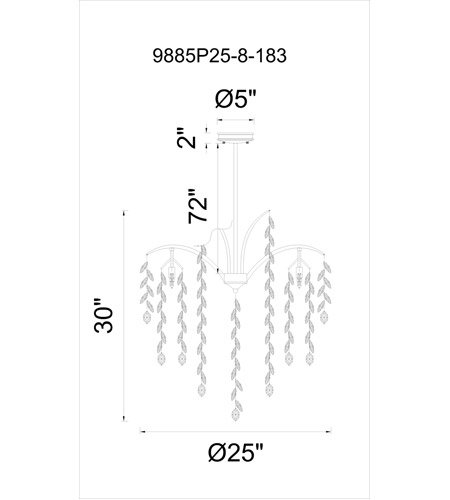 Silver Mist Crystals Napan Chandeliers