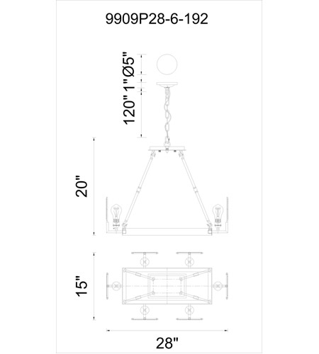CWI Lighting Brown Bhima Chandeliers