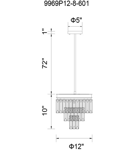CWI Lighting Chrome Metal Weiss Chandeliers