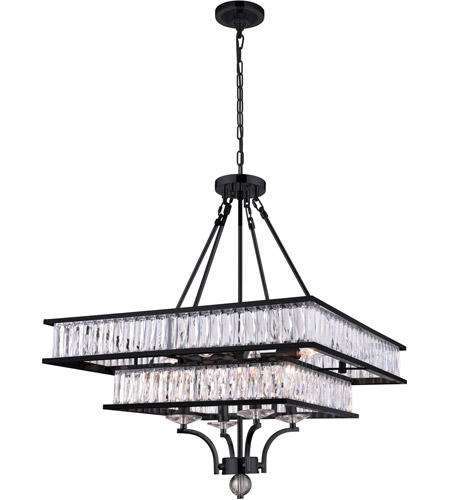 CWI Lighting Black Crystals Chandeliers
