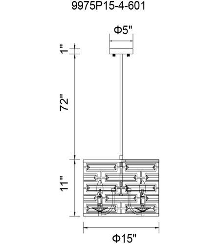 CWI Lighting Metal Petia Chandeliers