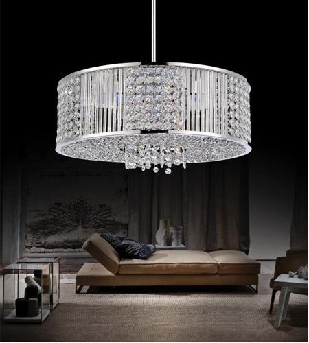 Chrome Glass Sarina Chandeliers