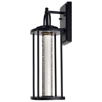 CWI Lighting 0407W7-1-101-A Greenwood LED 18 inch Black Outdoor Wall Light