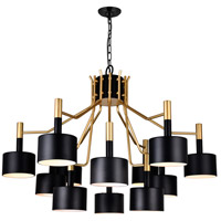 Matte Black Stainless Steel Chandeliers
