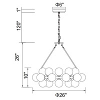 Arya LED 26 inch Satin Gold Chandelier Ceiling Light