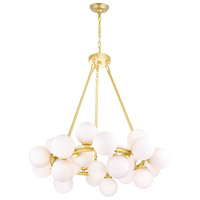 CWI Lighting 1020P26-25-602 Arya LED 26 inch Satin Gold Chandelier Ceiling Light