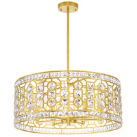 CWI Lighting 1026P23-6-193 Belinda 6 Light 23 inch Champagne Chandelier Ceiling Light