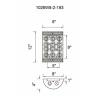 CWI Lighting 1026W8-2-193 Belinda 2 Light 8 inch Champagne Wall Sconce Wall Light photo thumbnail