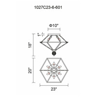 CWI Lighting 1027C23-6-601 Calista 6 Light 20 inch Chrome Flush Mount Ceiling Light