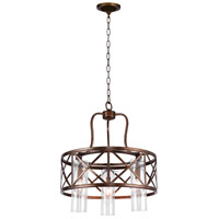 Wood Grain Bronze Keeva Chandeliers