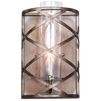 CWI Lighting 1030W8-1-217 Keeva 1 Light 8 inch Wood Grain Bronze Wall Sconce Wall Light