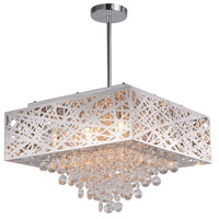 CWI Lighting 1032P18-9-601-S Eternity 9 Light 18 inch Chrome Drum Shade Chandelier Ceiling Light
