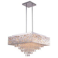 CWI Lighting 1032P22-12-601-S Eternity 12 Light 22 inch Chrome Drum Shade Chandelier Ceiling Light