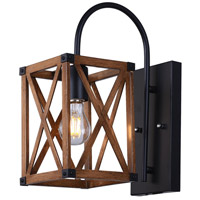 CWI Lighting 1033W6-1-230 Marini 1 Light 6 inch Wood Grain Brown Wall Sconce Wall Light photo thumbnail