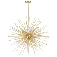 CWI Lighting 1034P30-9-620 Savannah 9 Light 30 inch Gold Leaf Chandelier Ceiling Light