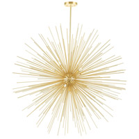 CWI Lighting 1034P40-14-620 Savannah 14 Light 40 inch Gold Leaf Chandelier Ceiling Light