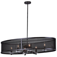 CWI Lighting 1035P36-6-101 Navah 6 Light 16 inch Black Chandelier Ceiling Light