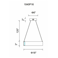 CWI Lighting 1040P16-251 Rosalina LED 16 inch Wood Grain Brown Chandelier Ceiling Light