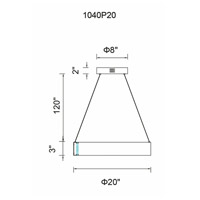 CWI Lighting 1040P20-251 Rosalina LED 20 inch Wood Grain Brown Chandelier Ceiling Light