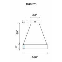 CWI Lighting 1040P20-251 Rosalina LED 20 inch Wood Grain Brown Chandelier Ceiling Light