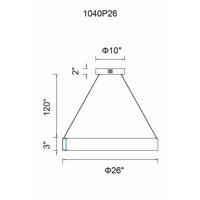 CWI Lighting 1040P26-251 Rosalina LED 26 inch Wood Grain Brown Chandelier Ceiling Light