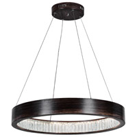 CWI Lighting 1040P32-251-O Rosalina LED 16 inch Wood Grain Brown Chandelier Ceiling Light