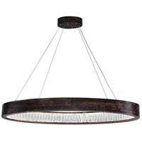 CWI Lighting 1040P42-251-O Rosalina LED 16 inch Wood Grain Brown Down Chandelier Ceiling Light
