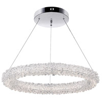 CWI Lighting 1042P25-601-R Arielle LED 25 inch Chrome Down Chandelier Ceiling Light
