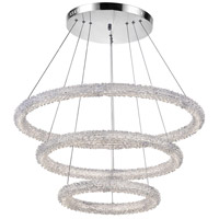 CWI Lighting 1042P32-601-3R Arielle LED 32 inch Chrome Down Chandelier Ceiling Light