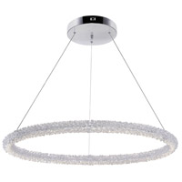 CWI Lighting 1042P32-601-R Arielle LED 32 inch Chrome Down Chandelier Ceiling Light