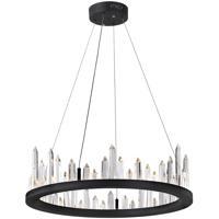 CWI Lighting 1043P24-101 Juliette LED 24 inch Black Chandelier Ceiling Light