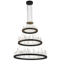 CWI Lighting 1043P42-3-101 Juliette LED 42 inch Black Chandelier Ceiling Light