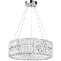 CWI Lighting 1044P20-601-R-2C Madeline LED 20 inch Chrome Chandelier Ceiling Light