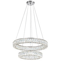 CWI Lighting 1044P32-601-R-2C-B Madeline LED 32 inch Chrome Chandelier Ceiling Light